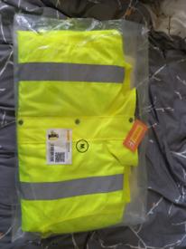 BNIB Hi-vis Waterproof Jacket. Medium £10