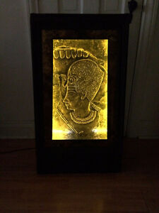 RETRO Rare Egyptian Decor light-up stand hutch table entree