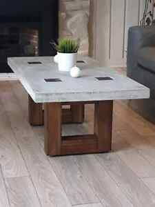 Hand made artisinal polished concrete coffee table