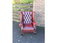 Chesterfield wing back chair