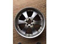 "Calibre 20"" load rated alloy wheel."