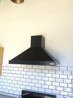 """Black 30"""" Ventahood wall mounted fan"""