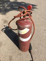 Acetylene tank. Hose only. Tank is sold