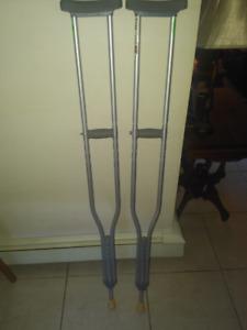 Steel crutches