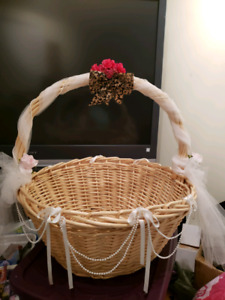Large wicker basket wedding