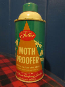 Antique Metal Spray Can, Fuller Moth Proofer from 1960's