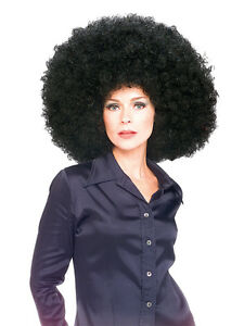 Super Giant Huge Afro Wig Black Fancy Dress Costume Accessory