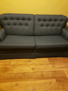 Blue Fabric pull out sofa bed