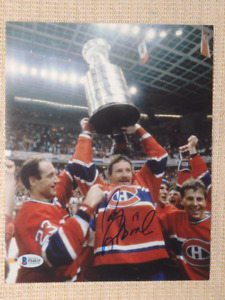 Larry Robinson Montreal Canadiens Signed 8x10 Photo With COA
