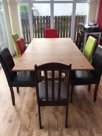 Extendable Dining Table only (no chairs)