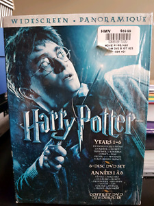 Harry Potter collection 6 DVDs $30