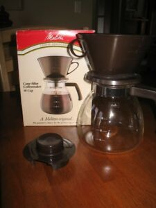 Never used 10 cup Melitta Perfection Drip coffee maker
