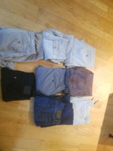 Men's suits and pants - Banana Republic, Gap, etc