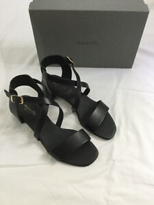 NEW Minelli SANDALS COLOR Black SIZE 38 French Brand