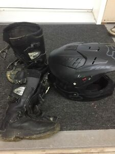 FOX helmet and boots for kids