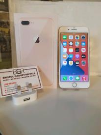 MINT! Apple iPhone 8 Plus Gold 256GB Unlocked + 1-Month Warranty