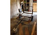 Camping trailer chassis