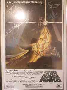 A new hope autographed poster  Kingston Kingston Area image 1