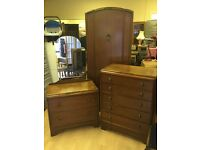 Vintage Bedroom Set, Dressing Table, Chest Of Drawers & Wardrobe Shabby Chic Up Cycle
