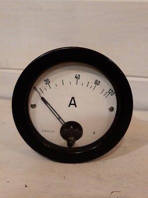 Ancien ampèremètre Appareil de mesure Electrique Industriel - Vintage ampermeter