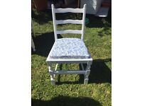 Shabby chic drop leaf table and 4 chairs