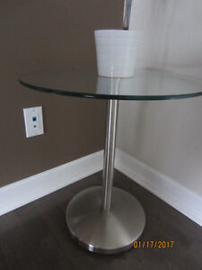 Glass and Aluminum side table