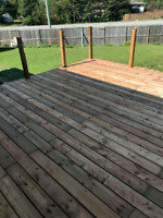 Fences and custom decks. Availability.