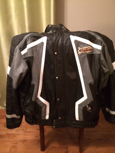 Men's Leather Suit for Snowmobiling