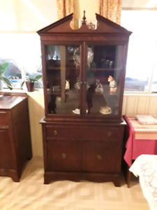 Dining room table 6 chairs buffet and china cabnet