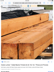 Western Red Cedar Posts/Beams/Timbers/Lumber