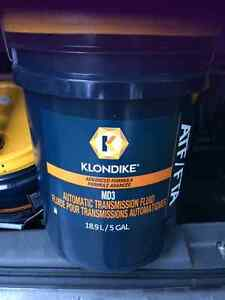 3 X 20 gallon containers of NEW Klondike Transmission Fluid