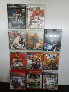 Assorted PS3 -                               Playstation 3 Games