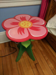 Flower table, flower light and floral bedding
