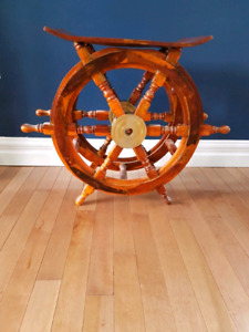 Ship's Wheel- Liquor/ Wine Rack