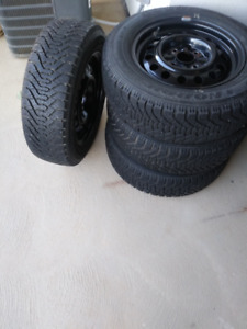 4 Good Year Nordic Winter Tires plus Rims with 4 Bolts
