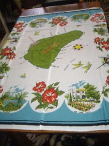 VINTAGE TABLE CLOTH (BARBADOS) # 4