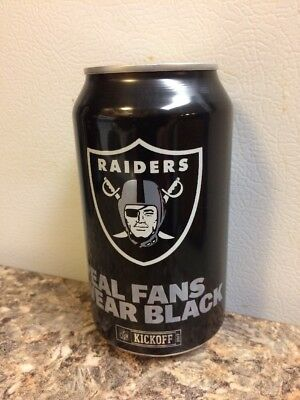 2017 Oakland Raiders bud light nfl kickoff beer can collectors 666336