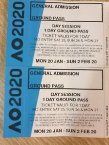 2 Ground Pass Tickets For The Australian Open 2020 Sport