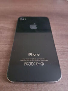 Working Used iPhone 4 with Rubber Case & Charger