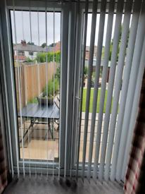 Blinds for patio doors.