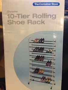 Brand New 10 Tier Rolling Shoe Rack
