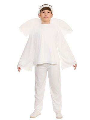 Boys Angel Gabriel Costume (ANGEL GABRIEL BOYS GIRLS TROUSER SUIT FANCY DRESS NATIVITY)