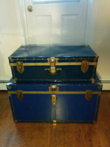 1 Vintage Steamer Trunk  -  big one is SOLD