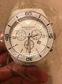 Armani ceramic watch