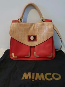 100% AUTHENTIC MIMCO 'Imperial' leather handbag - Ex Condition