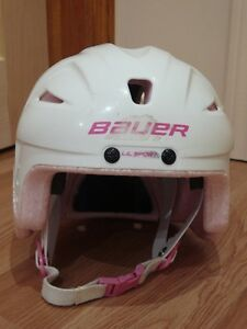 Bauer Lil' Sport Hockey Helmet Combo, Pink, Youth