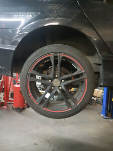 18 inch RTX Rims apex with brand new tire installed red line