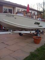 14.5ft Lowe aluminum boat