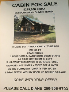 SEYMOUR ARM CABIN FOR SALE