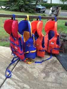 Youth PFDs for sale. life jackets